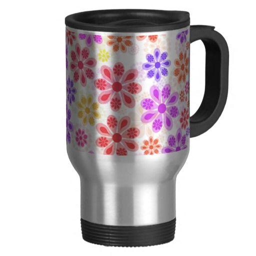 Flower Pattened Travel Mug