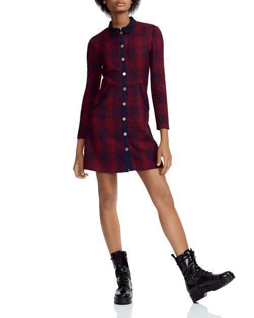 76962b3635 Maje Renitia Tweed Mini Shirt Dress in 2019