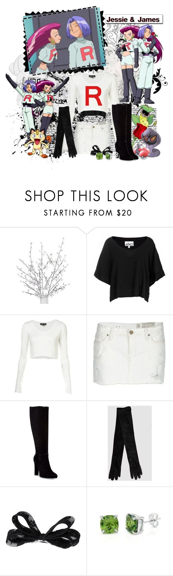 """o1. The couple you want(ed) to end up together - Jessie and James"" by marthamaxwell ❤ liked on Polyvore featuring Aiko, AllSaints, Mimosa, Yves Saint Laurent, H&M, Fantasy Jewelry Box and team rocket pokemon"