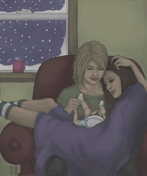 this is exactly what my girlfriend and i will be like except switch their hair colours (: