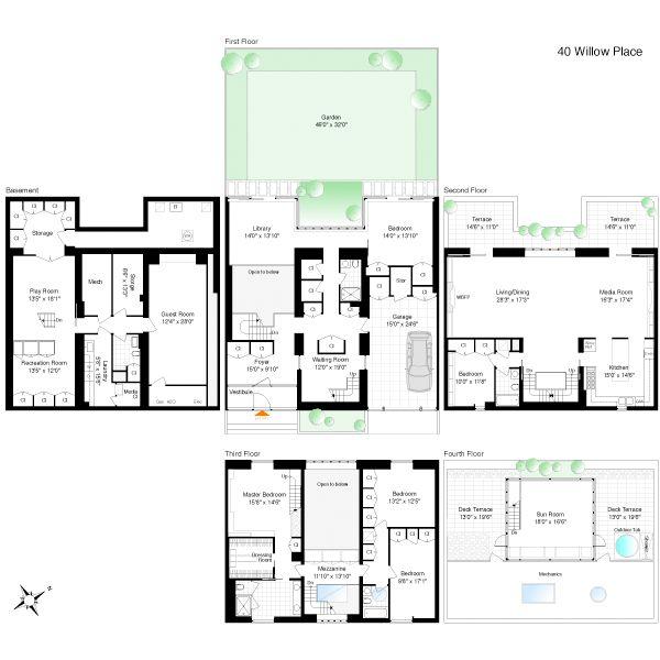 108 Best Townhouse Floor Plans Images On Pinterest Floor