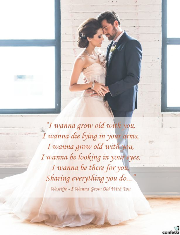 Top 10 Wedding Songs - I Wanna Grow Old With You | Confetti.co.uk
