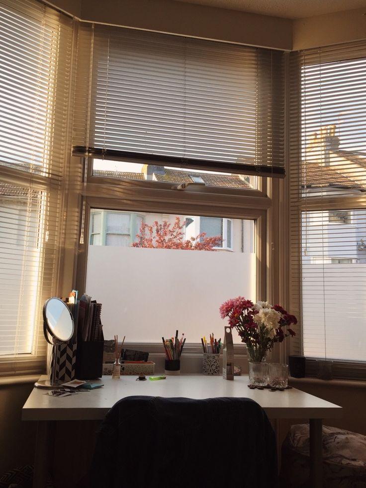 my study spot Home, Roman shade curtain, Home decor