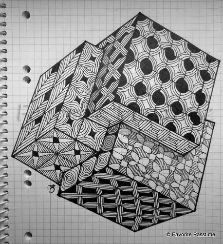 Interlocking Cube Grids | Favorite Passtime!  #ZentangleDesign #art