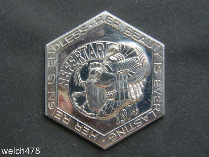Krewe Of Nefertari 1974-84 Tenth Anniversary 999 Fine Silver Mardi Gras Doubloon  | eBay