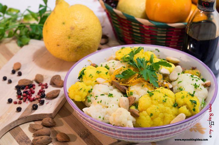 My Cooking Idea. Ricette vegetariane, ricette vegane.: Insalata di cavolfiore con arancia