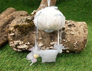 Χειροποίητες μπομπονιέρες βάπτισης αερόστατο