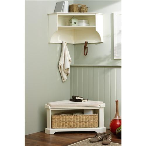 tetbury corner set ivory shelves shoe storage benches and hallways. Black Bedroom Furniture Sets. Home Design Ideas