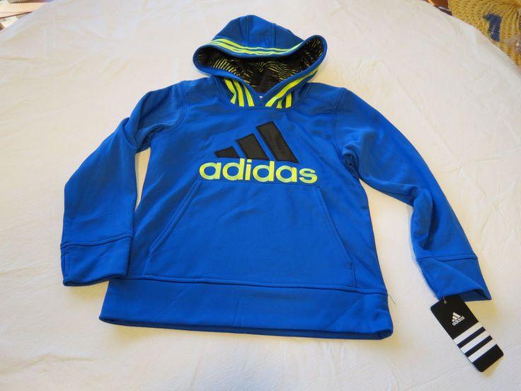 Boys 2T tddlr adidas AA5489 AB20 BM bright blue 439 jacket pull over coat hoodie #adidas #hoodie