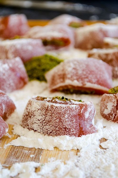 Homemade Turkish Delight with Pistachio {Middle Eastern recipes}