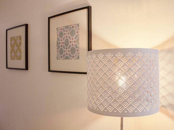 Beautiful cylinder standing floor lamp. Apartamento da Glória by Homestories.