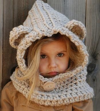 Kids Knit Winter Hat with Ears