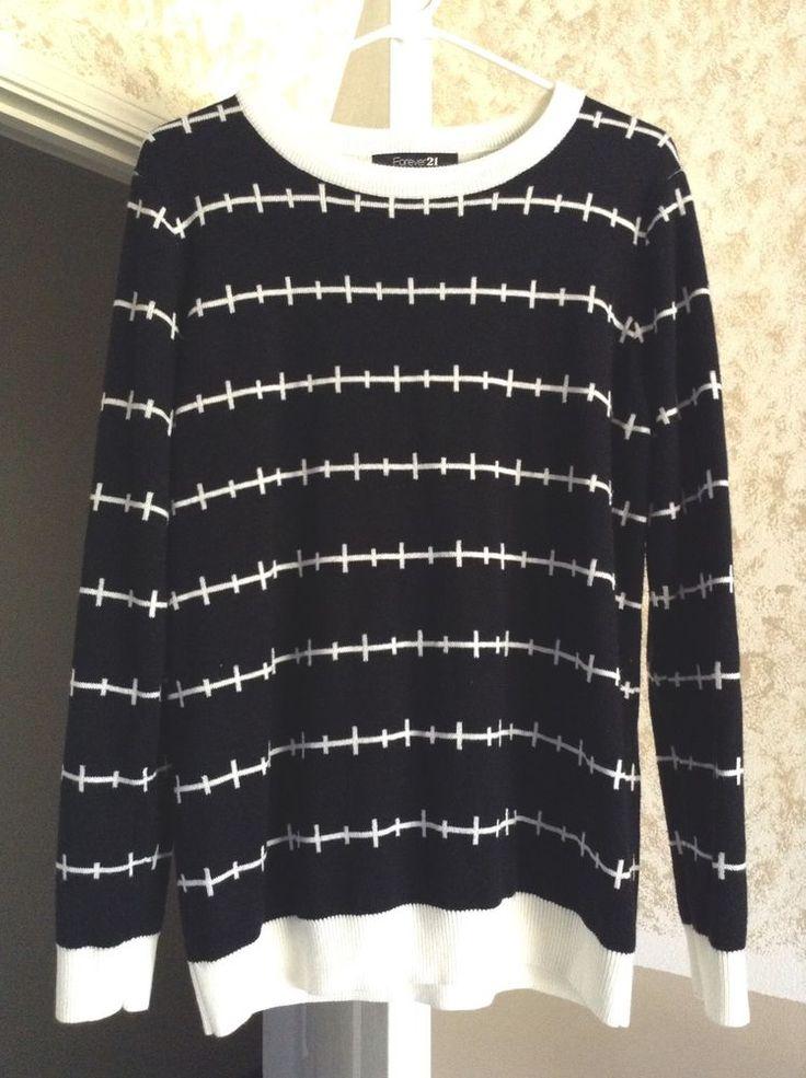 forever 21 pastel goth punk grunge black stitches sweater
