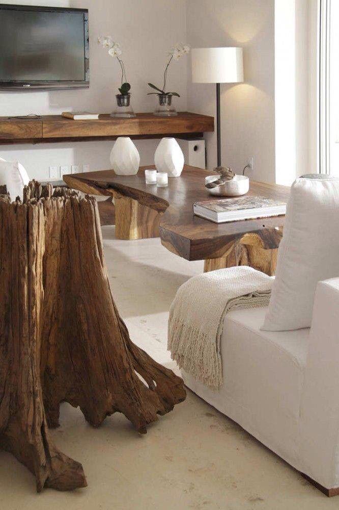 Drift Wood Furniture Casa Almare   Mexico By Elías Rizo Arquitectos