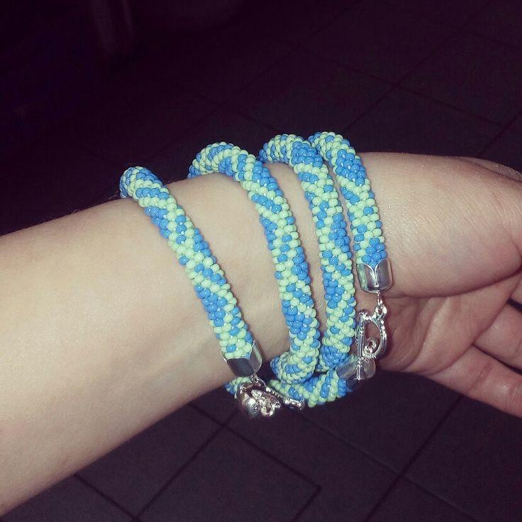 #Beadcrochet bracelet