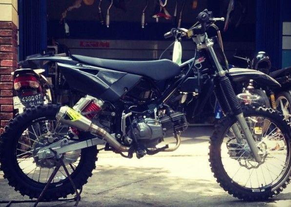 Foto Gambar Modifkasi Motor Rangka Bebek Jadi Trail Cross Gestrek