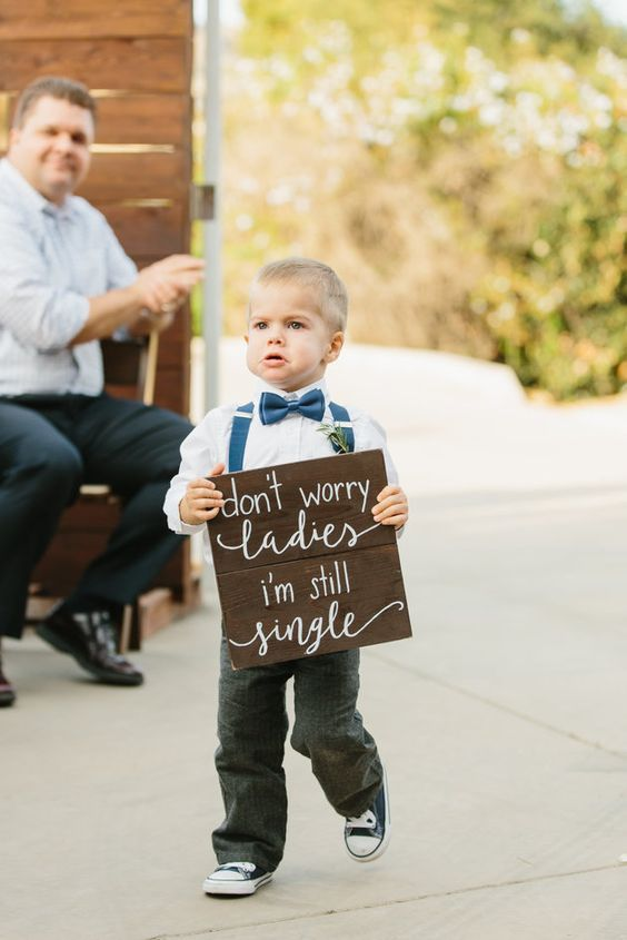 Don't Worry, Ladies… I'm Still Single - Creative Wedding Signs and Sayings to Delight Your Guests - EverAfterGuide