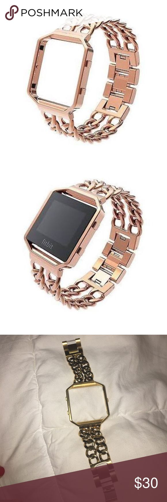 Brand New Fitbit Blaze gold chain bracelet Size 5.3'-6.1 (small). Dress up your Fitbit band with every outfit with this fashionable accessory while still reaching your fitness goals. Jewelry Bracelets