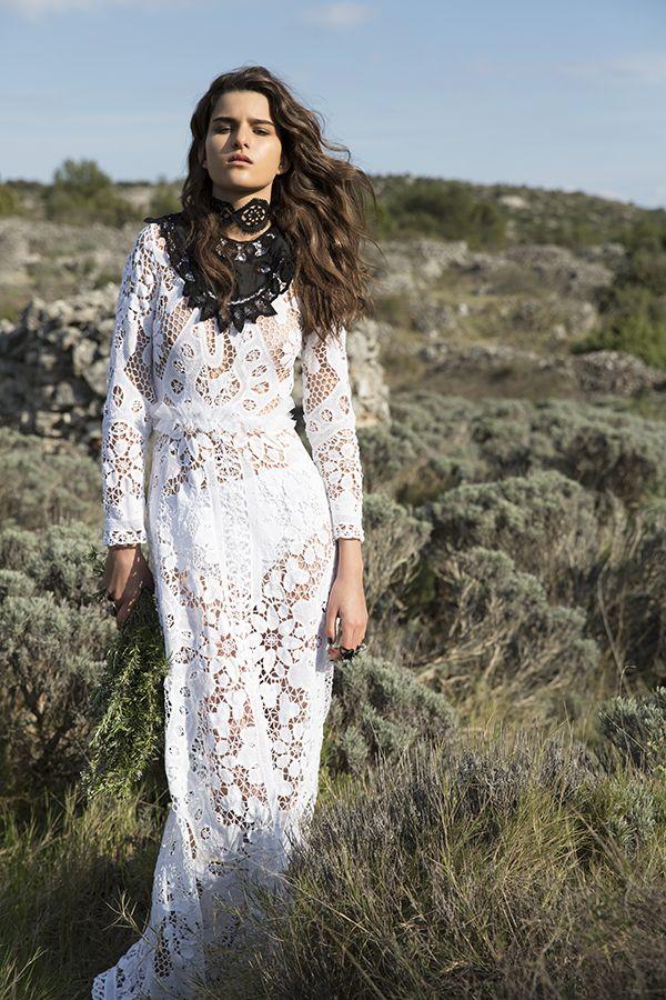DR8428 'the spirit in white' dress #nevenka #madeinmelbourne #australiandesigner #lace #whitelace #bride