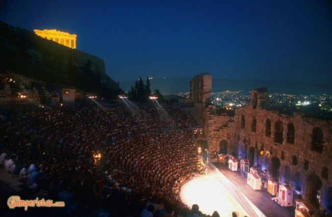 Archaelogical Athens: Acropolis, Odeon of Herodes Atticus  | Camperistas.com