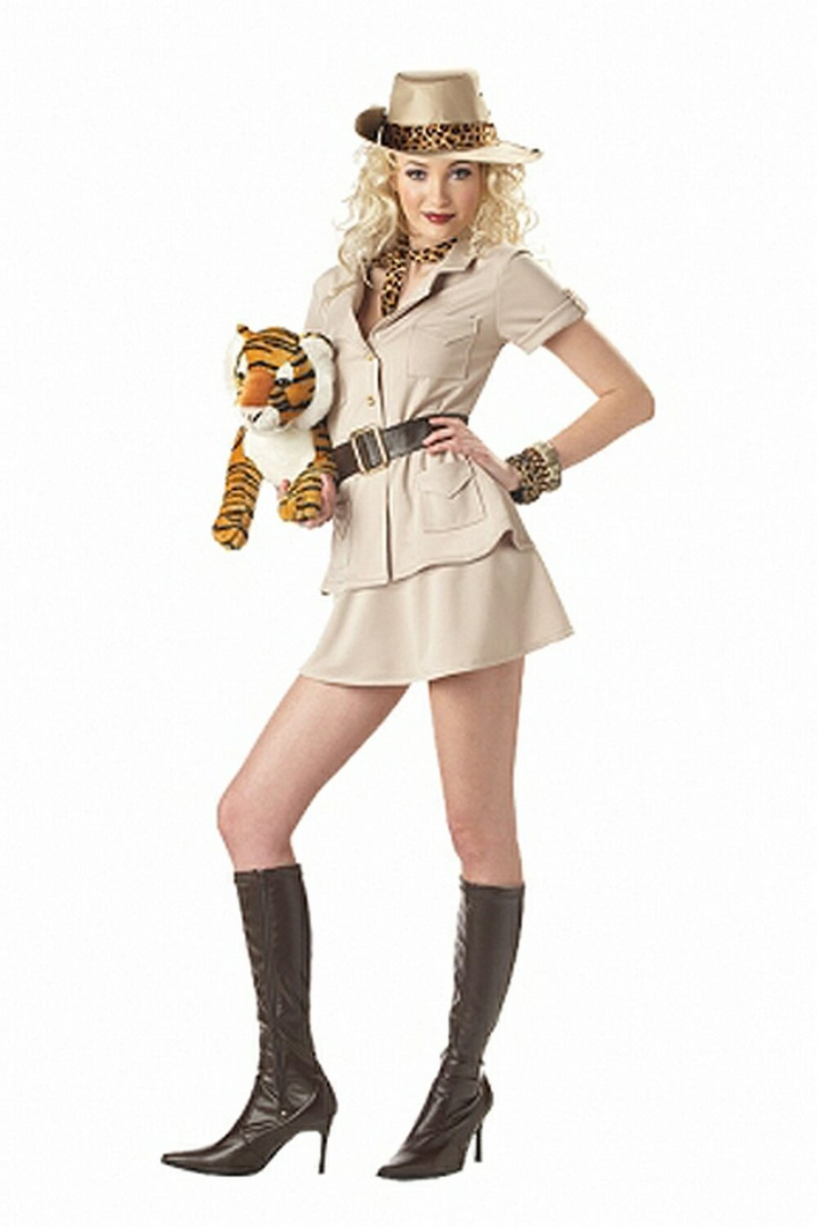 Safari Girl Jungle Desert Hunter Cute Dress Up Sexy Adult Halloween Costume