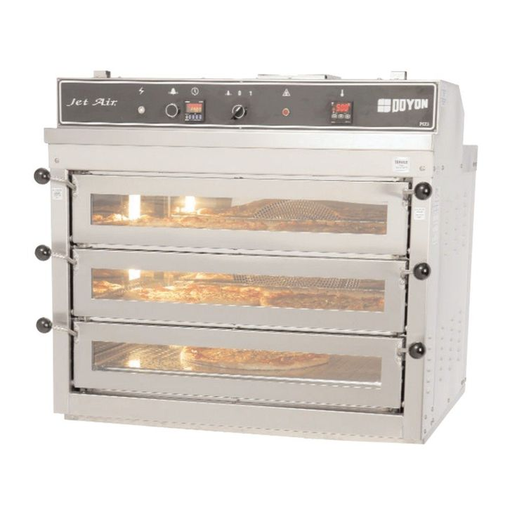 120/240V Single Phase Doyon PIZ3 Triple Deck Electric Pizza Oven