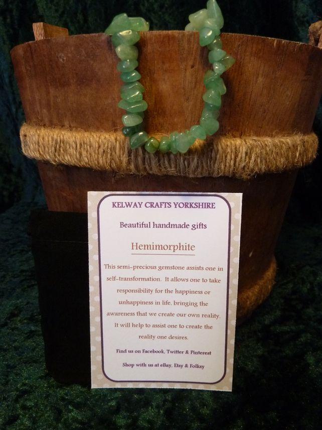 Hemimorphite bracelet precious stone gemstone meanings stretch bracelet  £9.99