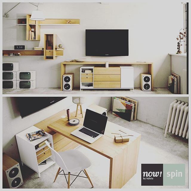 From sideboard to homeoffice  now! spin, links both design and function hulsta now by hulsta, now!spin