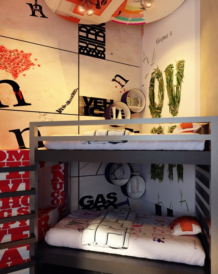 Awesome bunkbeds for boys!    Google Image Result for http://www.ikrunk.com/wp-content/uploads/2011/02/unique-corner-bunk-bed-decorations.jpg