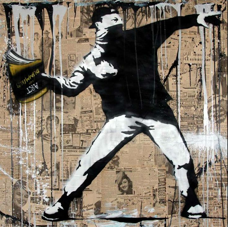 71 best mr brainwash street art images on pinterest for Mural mr brainwash