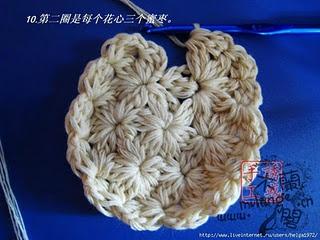Crochet Circular Cluster Motif Tutorial
