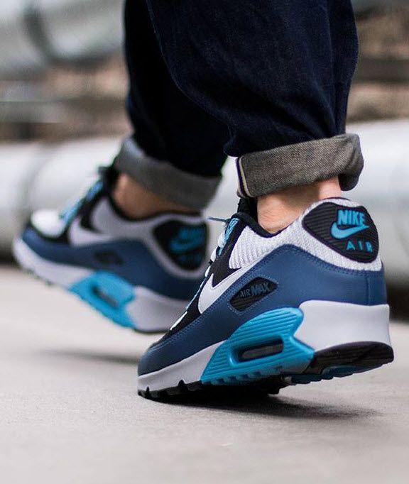 Nike Air Max 90 Essential Squadron Blue  Wolf Grey  Black  Stratos Blue