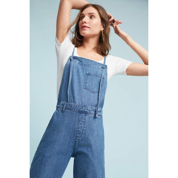 M.i.h Lindvall Overalls ($220) ❤ liked on Polyvore featuring jumpsuits, denim medium blue, blue jumpsuit, blue denim overalls, overalls jumpsuit, blue overalls and blue bib overalls