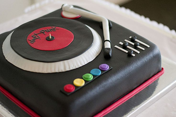 how to make a record player cake - Google Search