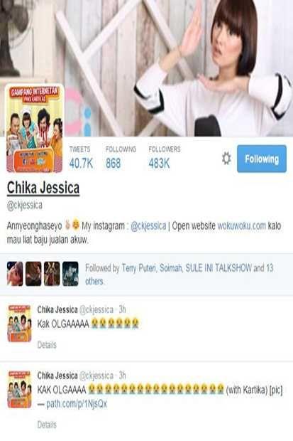 Chika Jessica: Kak OLGAAAAA...  http://lifestyle.sindonews.com/read/982232/166/chika-jessica-kak-olgaaaaa-1427467580