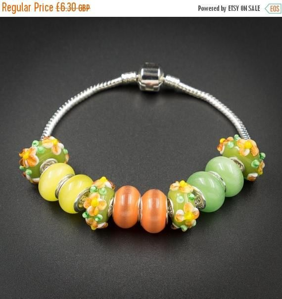ON SALE lime yellow orange european style by CretanHareCreations