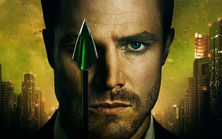 Download wallpapers Oliver Queen, 4k, superheroes, Arrow, 2017 movie, Green Arrow, DC Comics, Stephen Amell