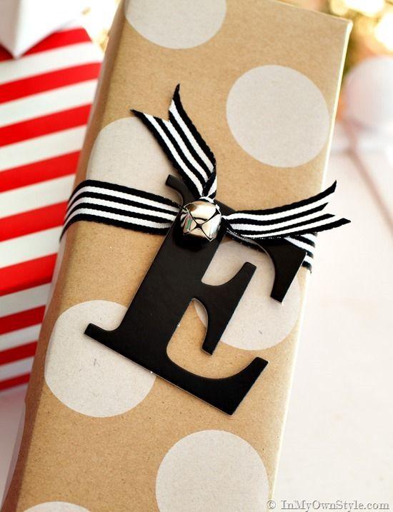 Easy Monogram gift tags