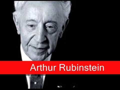 Arthur Rubinstein: Chopin - Prelude Op. 28 No. 15 in D flat major, 'Raindrop' - YouTube