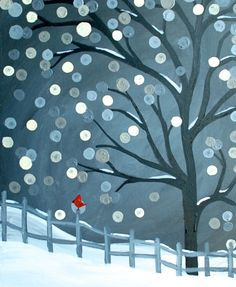 Winter Painting on Pinterest | Bob Ross Paintings, Wine And Canvas ...