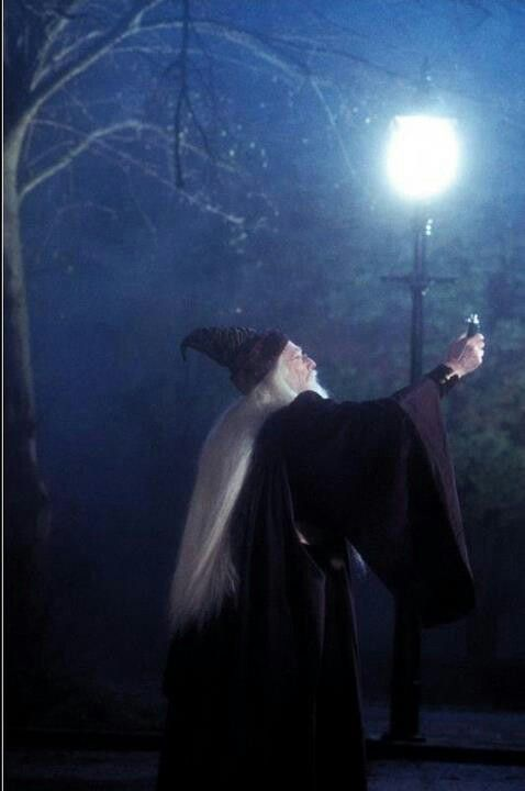 Dumbledore uses his invention, the Deluminator, to turn off the streetlights on Privet Drive. #SorcerersStone