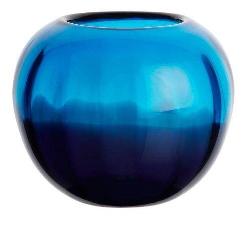 "Blumenvase, Kugelvase, Glas Vase ""LAGUNA"", blau, 18 cm, moderner Style (ART GLASS powered by CRISTALICA) ArtGlass http://www.amazon.de/dp/B00B4SYD32/ref=cm_sw_r_pi_dp_vaAeub1MTHY5F"