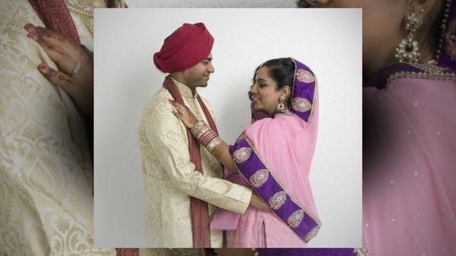 """Sikh wedding. """"They are not said to be husband and wife, who merely sit together. Rather they alone are called husband and wife, who have one soul in two bodies."""" (Guru Amar Das, Pauri, pg. 788)"""