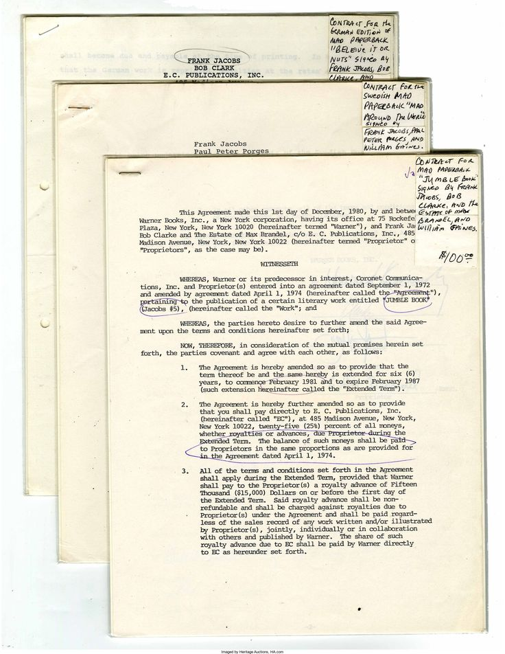Best Old Publishing Contracts Images On   Auction