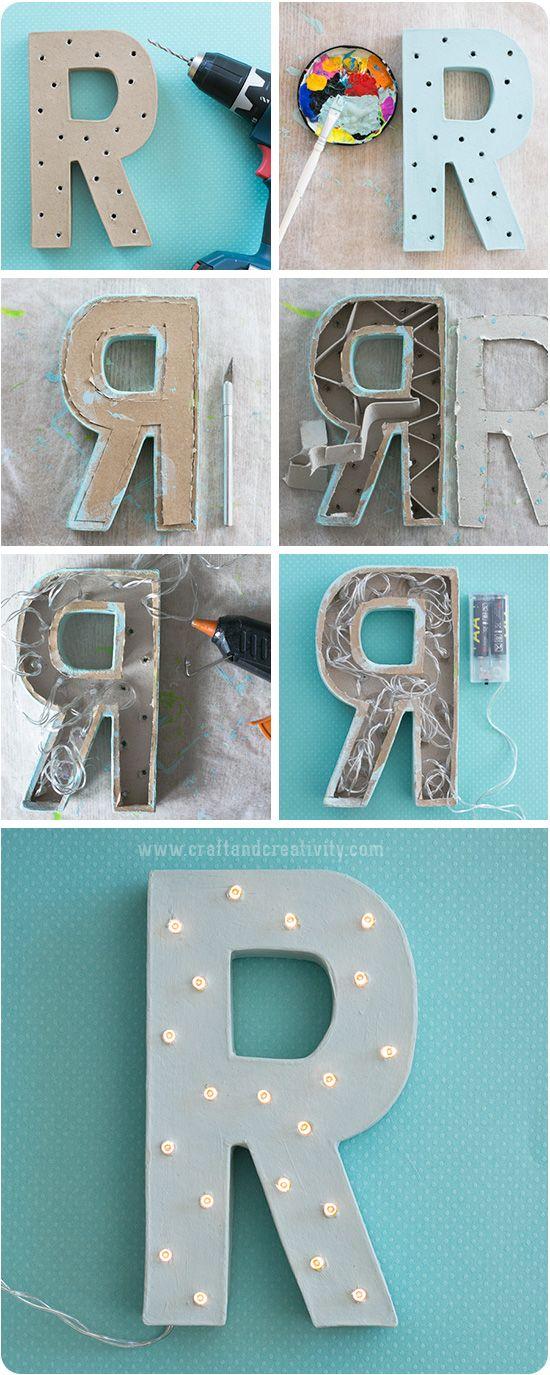 Gör din egen bokstavslampa - av Craft & Creativity