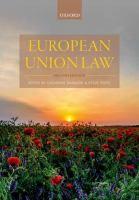 European Union law / edited by Catherine Barnard and Steve Peers - SG Bar