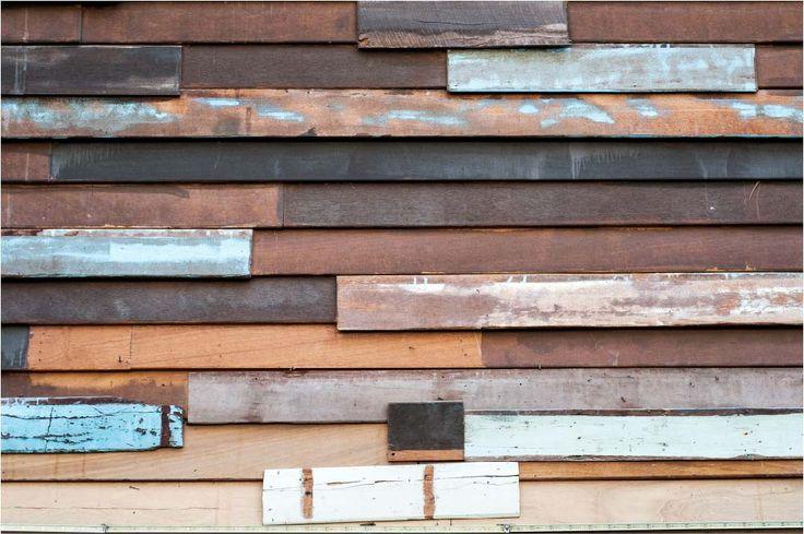 Papel mural maderas de colores