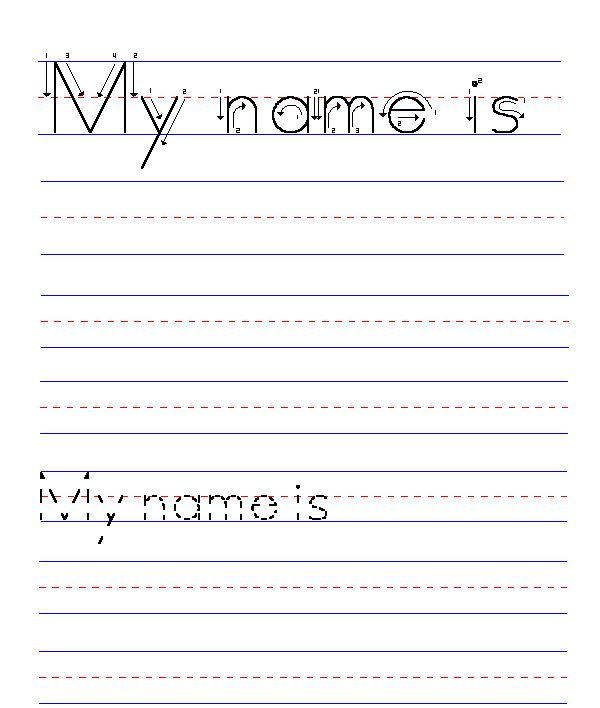 Printables Name Tracing Worksheet 1000 images about abc on pinterest letter tracing handwriting blank name worksheet