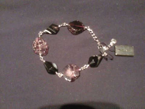 """""""One of a kind""""  $69.99 CAD - This stunning bracelet is made with genuine polished stones. Finished in rich rhodium. 7"""" bracelet with 2"""" extension. Nickel and lead free. Only one of these designs has been produced."""