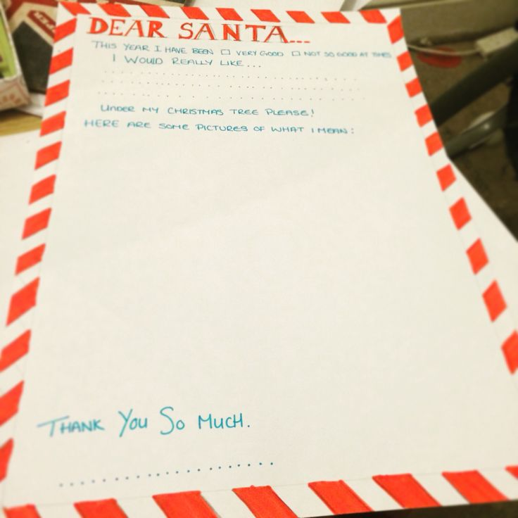 Santa letter for my son, nearly finished just need a Santa on the corner and do some finishing touches